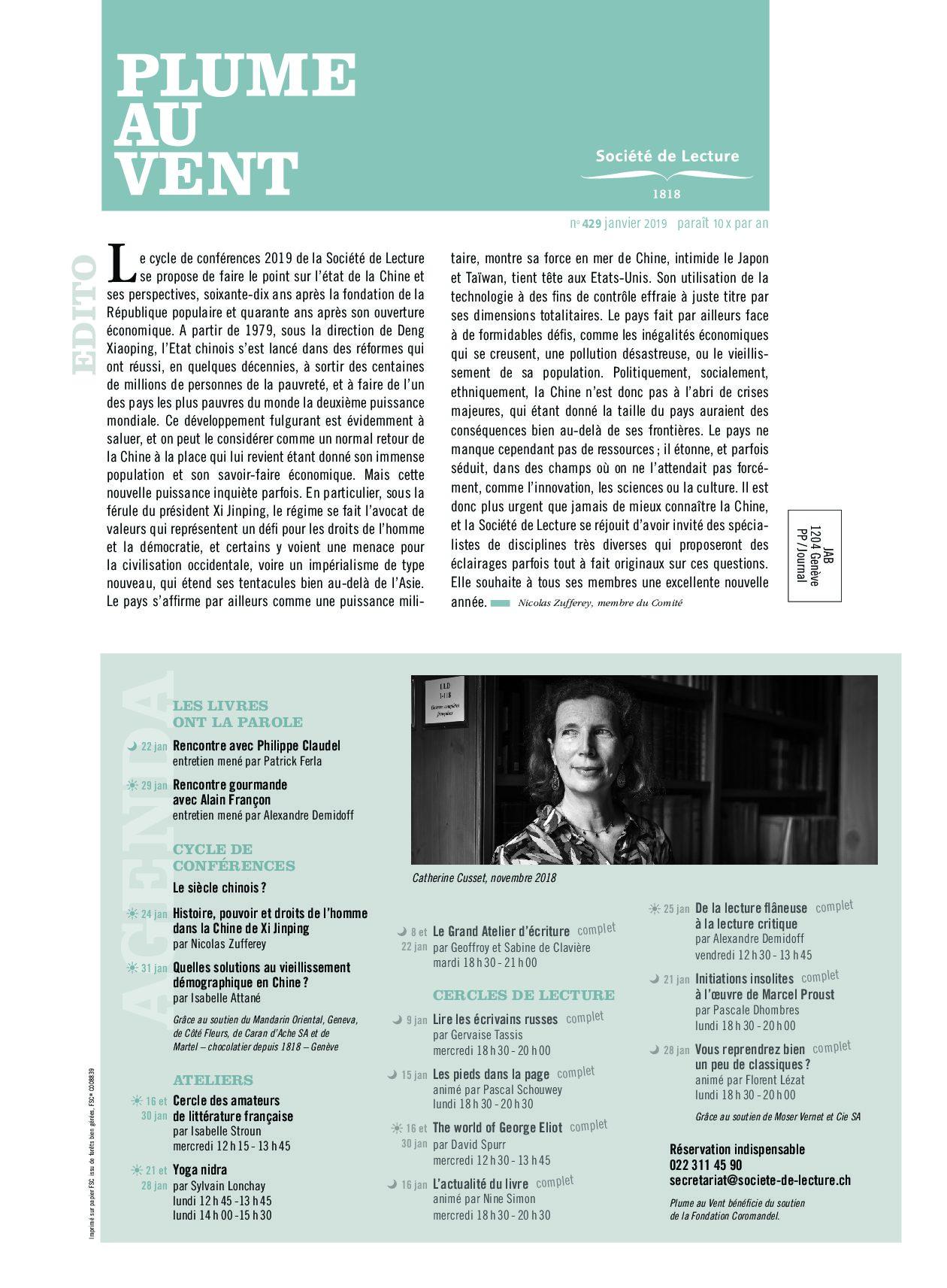 n°429 janvier 2019